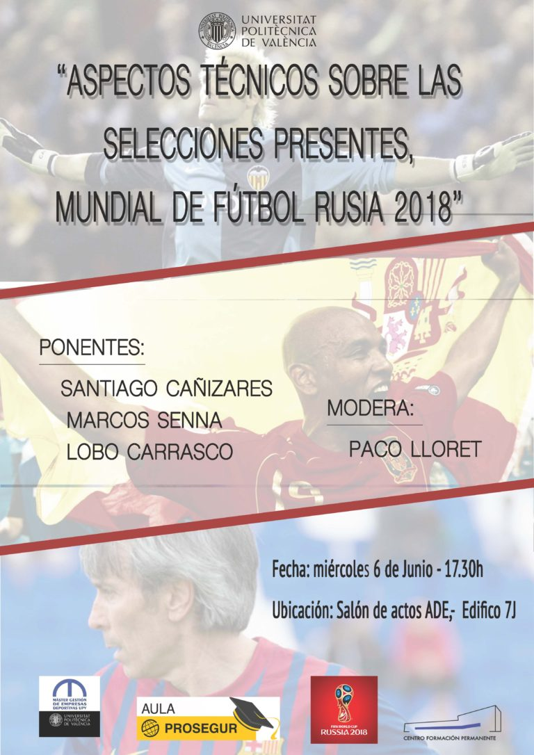 """Santiago Cañizares, Marcos Senna y el """"Lobo"""" Carrasco analizan el Mundial 2018. ( Foto: UPV"""